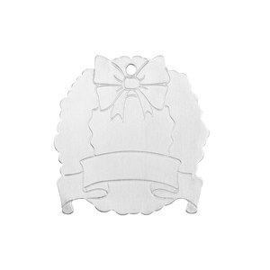 "Metal Stamping Blanks Aluminum Wreath Ornament Blank, 52.39mm (2.06"") x 51mm (2""), 14 Gauge"