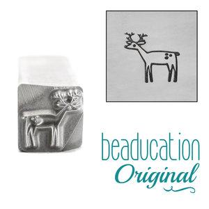 Metal Stamping Tools Deer Facing Left Metal Design Stamp, 8mm - Beaducation Original