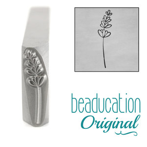 Metal Stamping Tools Lavender Pointing Right Metal Design Stamp, 17mm - Beaducation Original