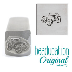 Metal Stamping Tools Classic 4x4 Vintage SUV Off Road Vehicle Driving Left Metal Design Stamp, 10mm - Beaducation Original