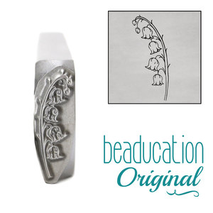 Metal Stamping Tools Lily of the Valley Pointing Left Metal Design Stamp, 16mm - Beaducation Original