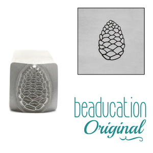Metal Stamping Tools Pinecone Metal Design Stamp, 8.25mm - Beaducation Original