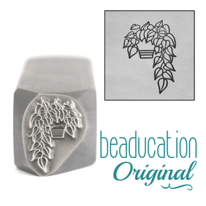 Metal Stamping Tools Pothos Plant Leaves on the Right Metal Design Stamp, 13.5mm - Beaducation Original