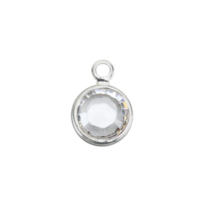 Charms & Solderable Accents Swarovski Crystal Channel Charm (Crystal - APRIL), 4mm Stone, Pack of 5