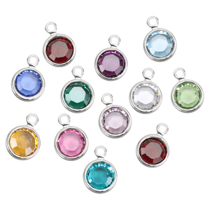 Charms & Solderable Accents Swarovski Channel Charm Birthstone Pack, 6mm Stone, Pack of 96