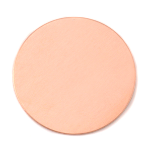 "Metal Stamping Blanks Copper Round, Disc, Circle, 72.9mm (2.87""), 20 Gauge"