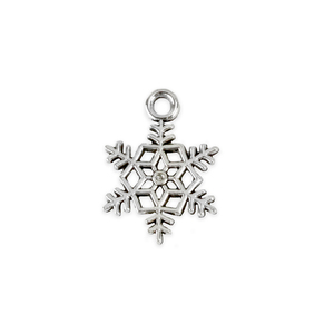 "Charms & Solderable Accents Base Metal Lacey Snowflake Charm 18.5mm (.73""), Pack of 10"