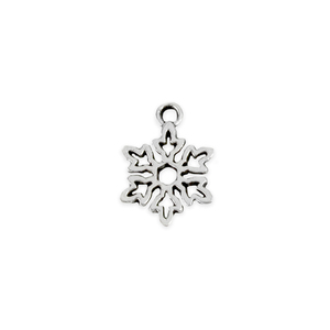 "Charms & Solderable Accents Base Metal Snowflake Charm 15.5mm (.61""), Pack of 10"