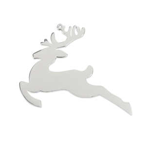 "Metal Stamping Blanks Stainless Steel Reindeer Ornament, 71mm (2.8"") x 54mm (2.1""), 18 Gauge"