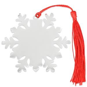 "Metal Stamping Blanks Stainless Steel Solid Center Snowflake Ornament, 76mm (3"") x 67mm (2.6""), 18 Gauge"