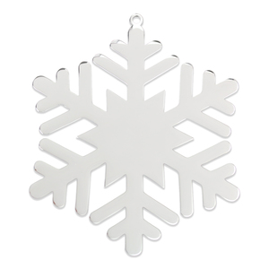 "Metal Stamping Blanks Stainless Steel Lacey Snowflake Ornament, 80mm (3.1"") x 80mm (3.1""), 18 Gauge"