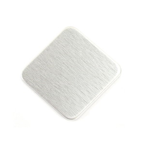 """Metal Stamping Blanks Aluminum Square with Rounded Corners, 25mm (1""""), 14 Gauge, Pack of 5"""