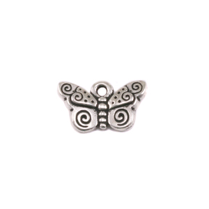 Charms & Solderable Accents Plated Silver Charm: Butterfly