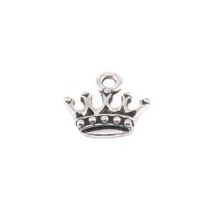 Charms & Solderable Accents Plated Silver Charm: King's Crown