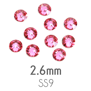 Beads & Swarovski Crystals 2.6mm Swarovski Flat Back Crystals, Rose, Pack of 20