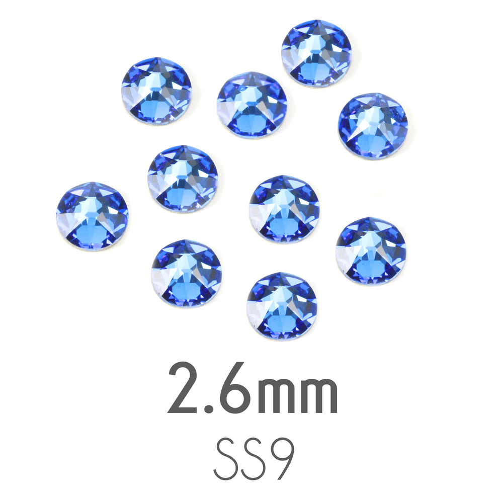 Beads & Swarovski Crystals 2.6mm Swarovski Flat Back Crystals, Sapphire, Pack of 20