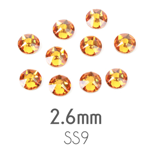 Beads & Swarovski Crystals 2.6mm Swarovski Flat Back Crystals, Topaz, Pack of 20