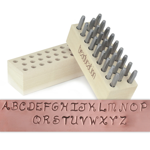 "Metal Stamping Tools Beaducation Kismet Uppercase Letter Stamp Set 1/8"" (3.2mm)"