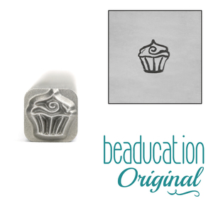 Metal Stamping Tools Cupcake Metal Design Stamp, 5mm - Beaducation Original