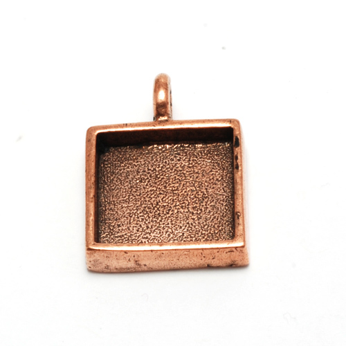 Plated Copper Square Designer Bezel