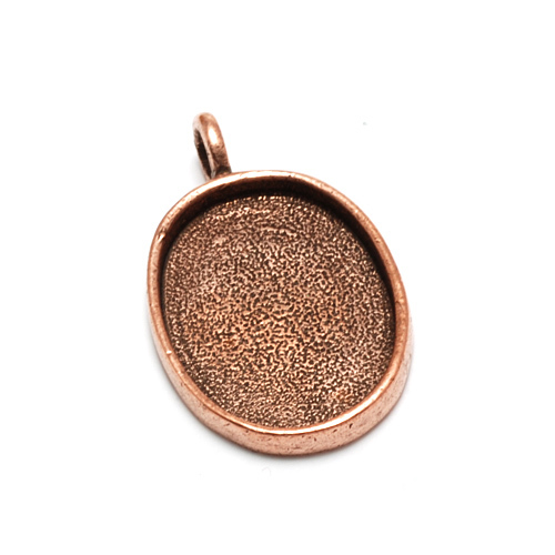 Plated Copper Oval Designer Bezel