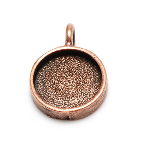 "Plated Copper Round Designer Bezel, 5/8"" (16mm)"