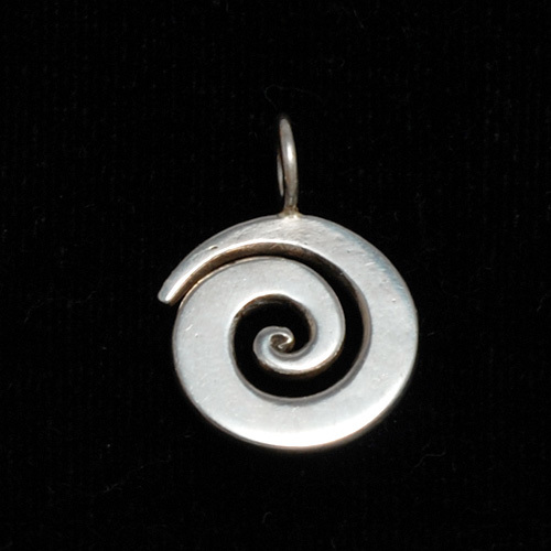 "Metal Stamping Blanks Sterling Silver Small Spiral Pendant 5/8"" (16mm)"