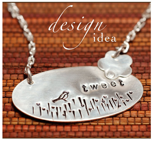 Design Idea: Stamped and Riveted Tweet Pendant
