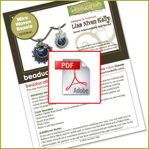Wire Woven Bezel Written Tutorial (PDF download)