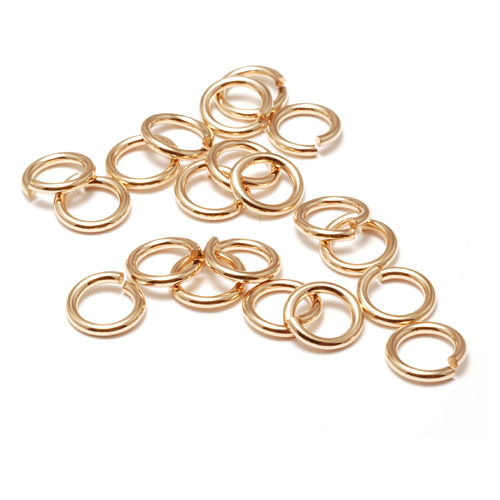 Chain & Jump Rings Gold Filled 6mm I.D. 16 Gauge Jump Rings, pack of 20
