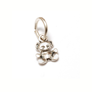 Charms & Solderable Accents Sterling Silver Tiny Teddy Bear Charm