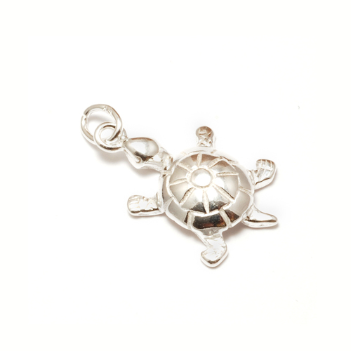 Charms & Solderable Accents Sterling Silver Turtle Charm