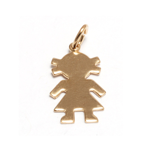 Charms & Solderable Accents Gold Filled Girl Silhouette Charm