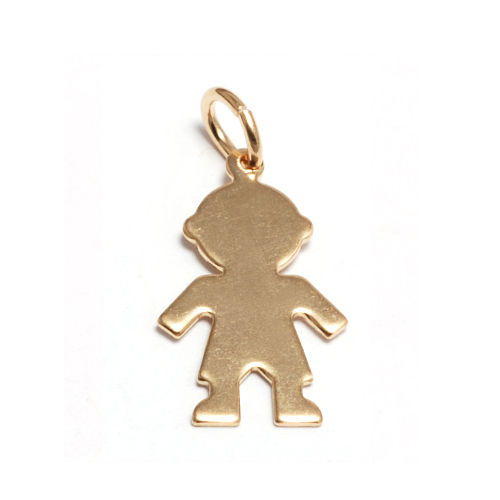 Charms & Solderable Accents Gold Filled Boy Silhouette Charm