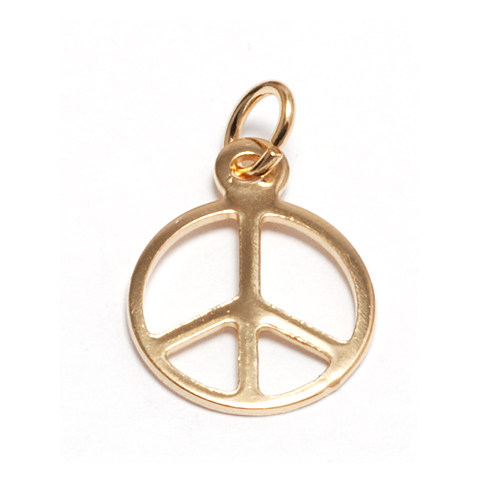 Gold Filled Peace Sign Charm
