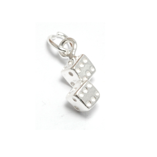Charms & Solderable Accents Sterling Silver Tiny Dice Charm
