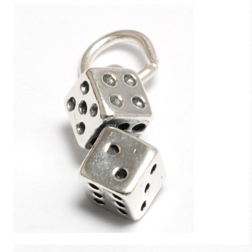 Charms & Solderable Accents Sterling Silver Dice Charm