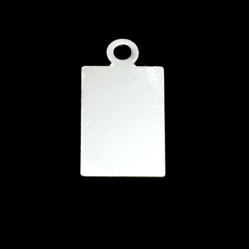 Metal Stamping Blanks Sterling Silver Rectangle w/ Top Loop (19mm x 12mm), 24g