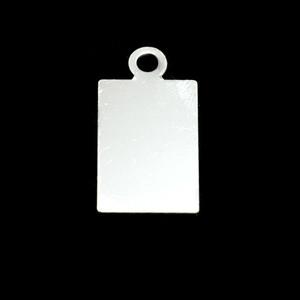 Metal Stamping Blanks Sterling Silver Rectangle w/ Top Loop (19mm x 12mm), 24g