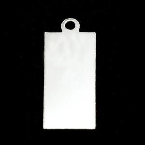 Metal Stamping Blanks Sterling Silver Rectangle w/Top Loop (24mm x 11.5mm), 24g