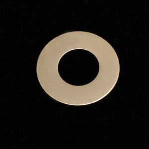 "Metal Stamping Blanks Gold Filled Washer, 1"" OD 1/2"" ID, 24g"
