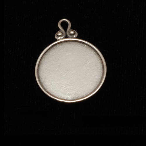 Metal Stamping Blanks Sterling Silver Circle Pendant with Raised Edge (OXIDIZED)