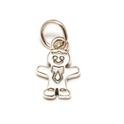 Charms & Solderable Accents Sterling Silver Gingerbread Boy Charm