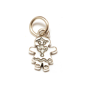 Charms & Solderable Accents Sterling Silver Gingerbread Girl Charm