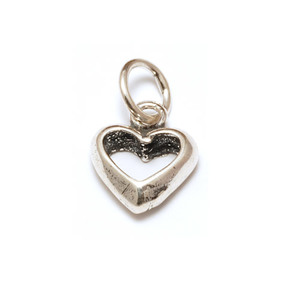 Charms & Solderable Accents Sterling Silver Chunky Open Heart Charm