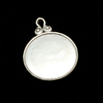 Sterling Silver Circle Pendant with Raised Edge